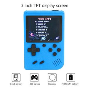 Image 3 - Portable 3 Inch Screen Handheld Retro Games Consoles With 400 Games for FC Games for Kids Boys Girls Chinese English Optional
