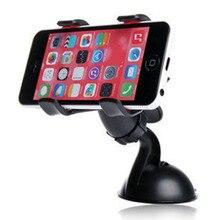 Автомобильный Кронштейн для мобильного телефона, 360 градусов, ABS присоска, ПВХ, вращение, двойной зажим, автомобильная поддержка, держатель для мобильного телефона, аксессуары