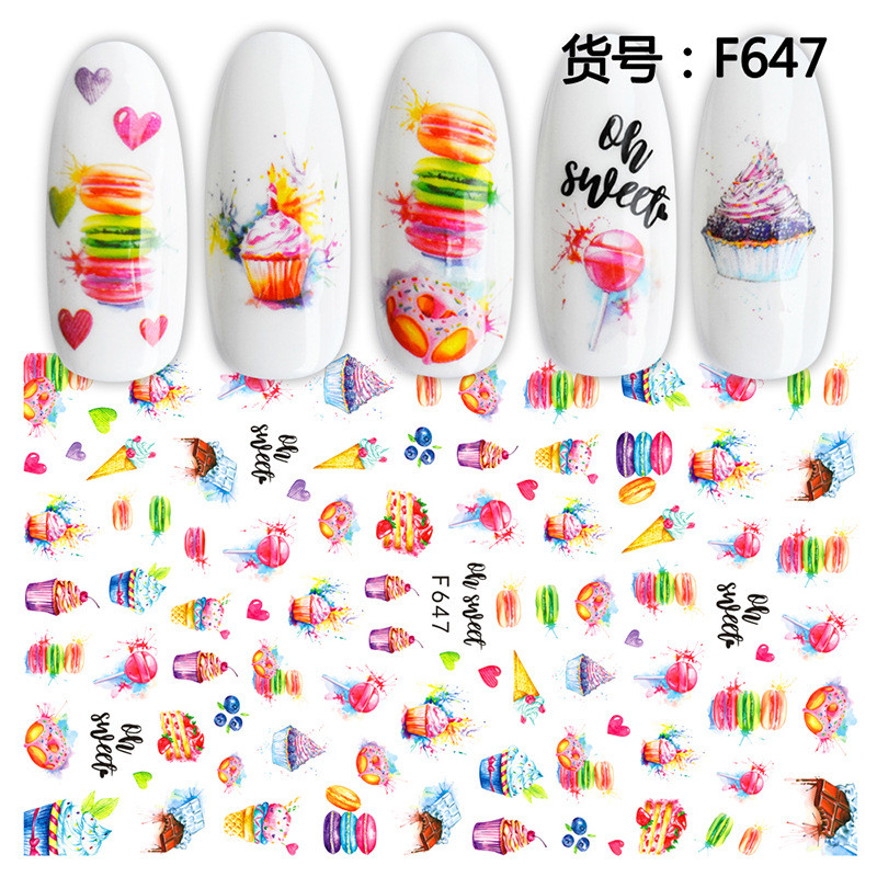 1sheet Fruit Pattern Nail Stickers Decals For Women Kids 3d Self Adhesive Summer Stickers Flowers Beach For Manicure Nail Art 52 Stickers Decals Aliexpress