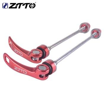 ZTTO 1 Pair Bicycle Skewers Ultralight Quick Release Skewers for MTB Road Bike bicycle bike titanium lightest cnc quick release skewers golden pair