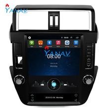 Android Car GPS Navigation DVD Player for-Toyota Land Cruiser Prado 2014-2017 Tesla Style head unit radio multimedia player zaixi car android system 1080p ips lcd screen for toyota land cruiser prado 150 2014 2017 car radio player gps navigation wifi
