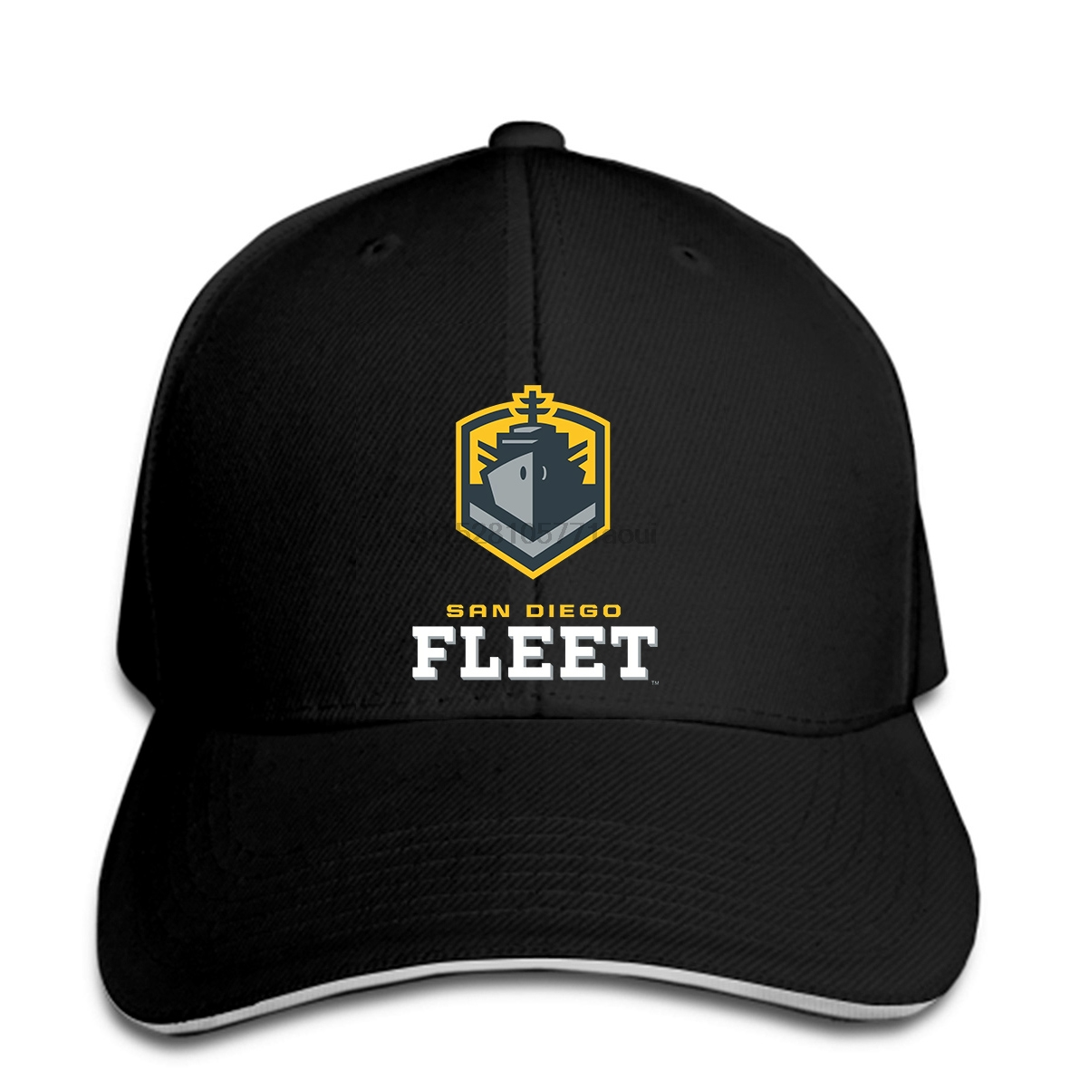 Baseball cap San Diego Fleet US alliance Football Team Logo Black Baseball caps