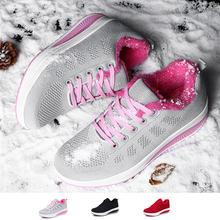 Женские зимние прогулочные туфли Бархатные Теплые повседневные