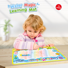 Play-Mat Water-Doodle-Mat Coloring-Books Rainbow 2-Pens Kids Gift Rug for 5-Types Xmas