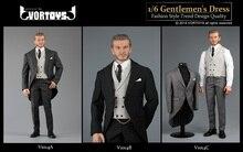 VORTOYS V1014 1/6 British Gentlemans Dress Royal Wedding Suit Costume for12inch Action Figure DIY