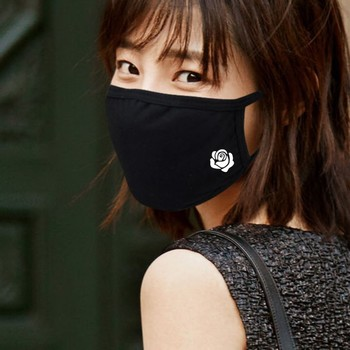 1 Pcs Carbon Large Size Cotton Fabric Mouth Face Mouth-muffle Windproof Face Reusable Respirator Masks Mouth Black Fashion