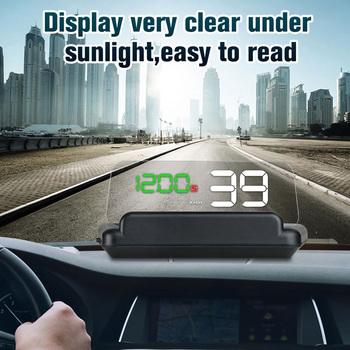 Auto napięcie ostrzeżenie o przekroczeniu prędkości alarmy System T900 samochód HUD GPS wyświetlacz Head Up Auto elektroniczne alarmy napięcia tanie i dobre opinie VODOOL CN (pochodzenie) 13 5x6 5x8cm Warning Alarm System GPS Head Up Display overspeed alarm voltage alarm -40~+120C 86~106kPa