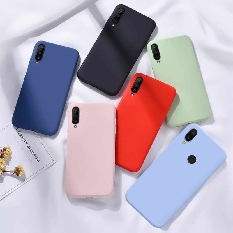 Cute TPU soft Case Candy For Xiaomi Redmi Note 7 8 Pro 7A 8A Mi 9T Pro 9 SE A3 lite Mi9 Mi9T Silicone Cover Colorful Phone case