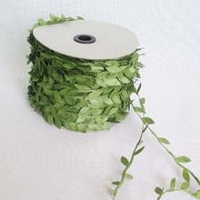 10M Artificial Vines Leaf Garland DIY Home Wall Garden Wedding Party Wreaths Greek Wild Jungle Decorative Botanical Greenery