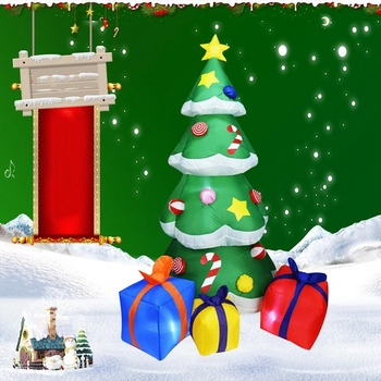 2.1M High Automatic Inflatable Christmas Tree Christmas Garden Decoration Spree Home Decor Party Supplies