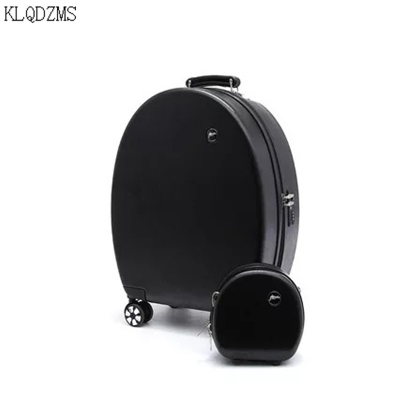 KLQDZMS 20 Inch Kids Suitcase On Wheels Mini Spinner Rolling Luggage ABS Cartoon Children's Trolley Luggage Set