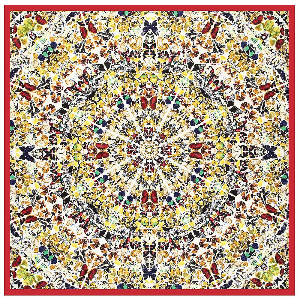 Colorful Butterfly 2020 Winter New Design Wholesale Brand Scarf Twill Silk Square Scarf  Women Kerchief Scarves For Ladies Shawl
