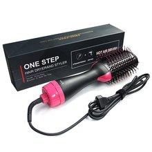 Secador de pelo profesional de 1000 W, cepillo 2 en 1, alisador de pelo, rizador, peine, secador eléctrico con peine, cepillo de pelo, rodillo Styler