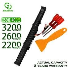 Golooloo 2200MaH Bateria X751M 15V para ASUS X751L A41-X550E F450 F450E F450C X450E X450J X450 A450 A450J A450V série
