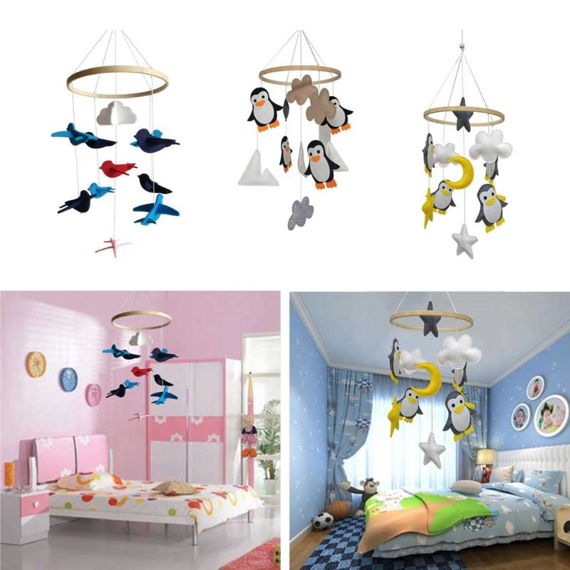 Baby Rattles Mobile Toys Crib Toy Bed Hanging Newborn Kids Room Decoration Bed Bell Toys