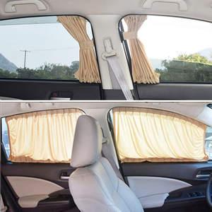 Curtains Cover Sunshade Blinds Side-Window Auto Sun-Visor Car Elastic Car-Styling S-M