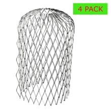 4 шт. защита желоба от ржавчины Стоп Блокировка листья мусора фильтр алюминиевый фильтр 3 дюймов Eave крышка расширяемый прочный практичный