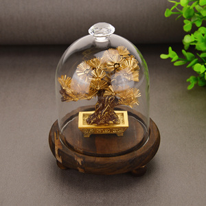 Image 2 - Feng shui Decor Lucky Wealth Ornament 24k Gold Foil Pine Tree Gold Crafts Office Desktop Lucky Ornaments Home Decoration Gifts