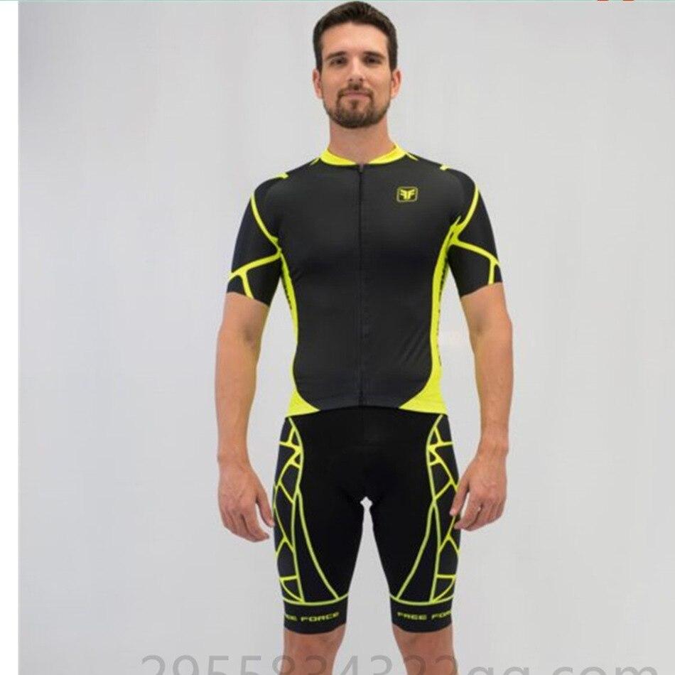Spor ve Eğlence'ten Bisiklet Takımları'de Serbest kuvvet bisiklet giyim erkek bisiklet özel süt ipek kumaş giyim MTB yol bisikleti giyim forması setleri ropa ciclismo hombre title=