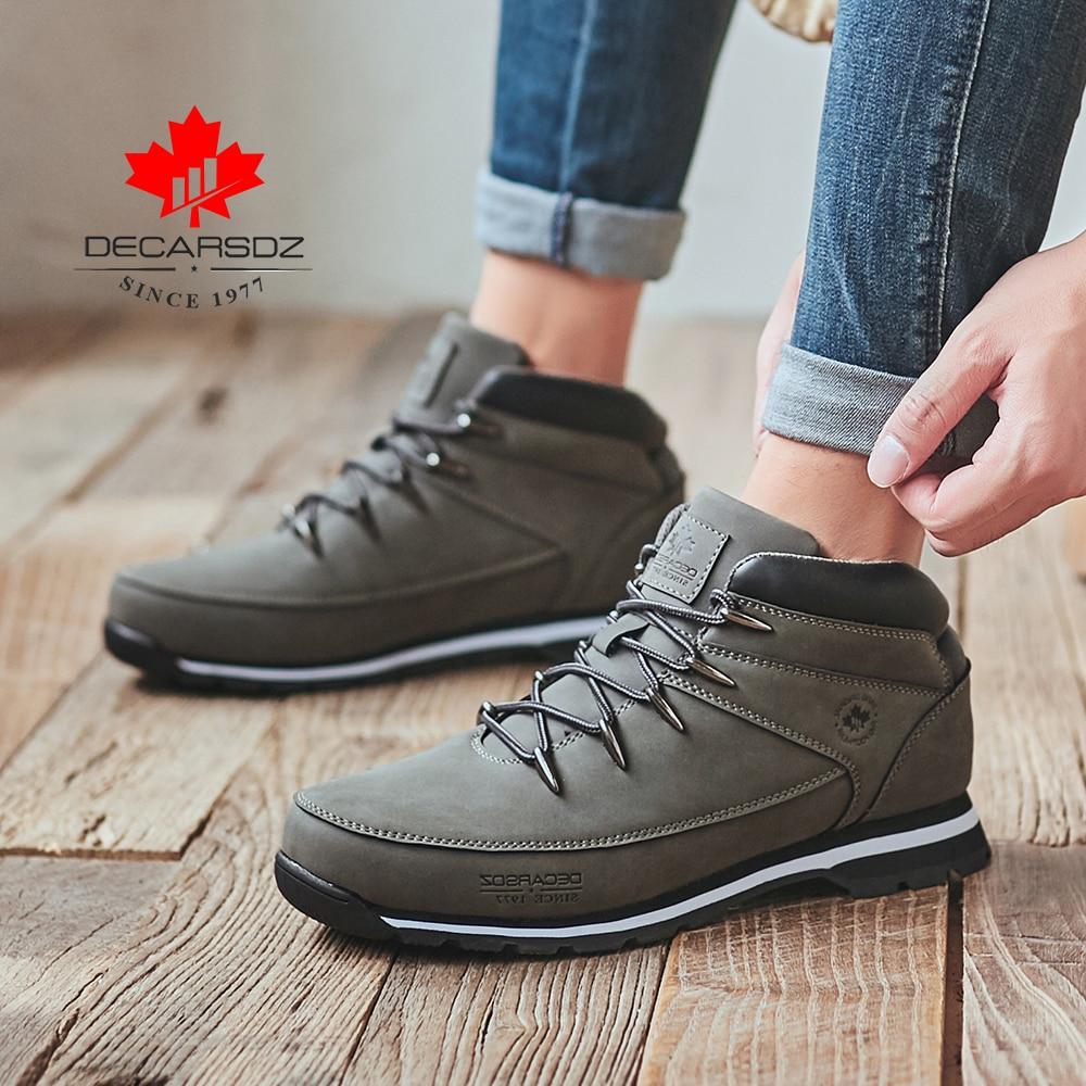 DECARSDZ Men Casual Boots 2021 New Men Fashion Shoes Man Brand Lace-up Winter Boots Men winter Boot Shoes Man Shoes Men's Boots 4