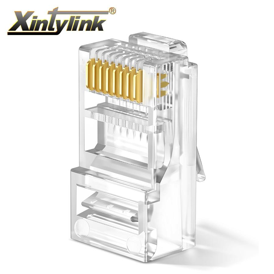 Разъем xintylink rj45 rg rj 45 cat6 разъем кабеля ethernet rg45 cat 6 сеть lan utp 8p8c неэкранированный Разъем модульный 20/50/100 шт.