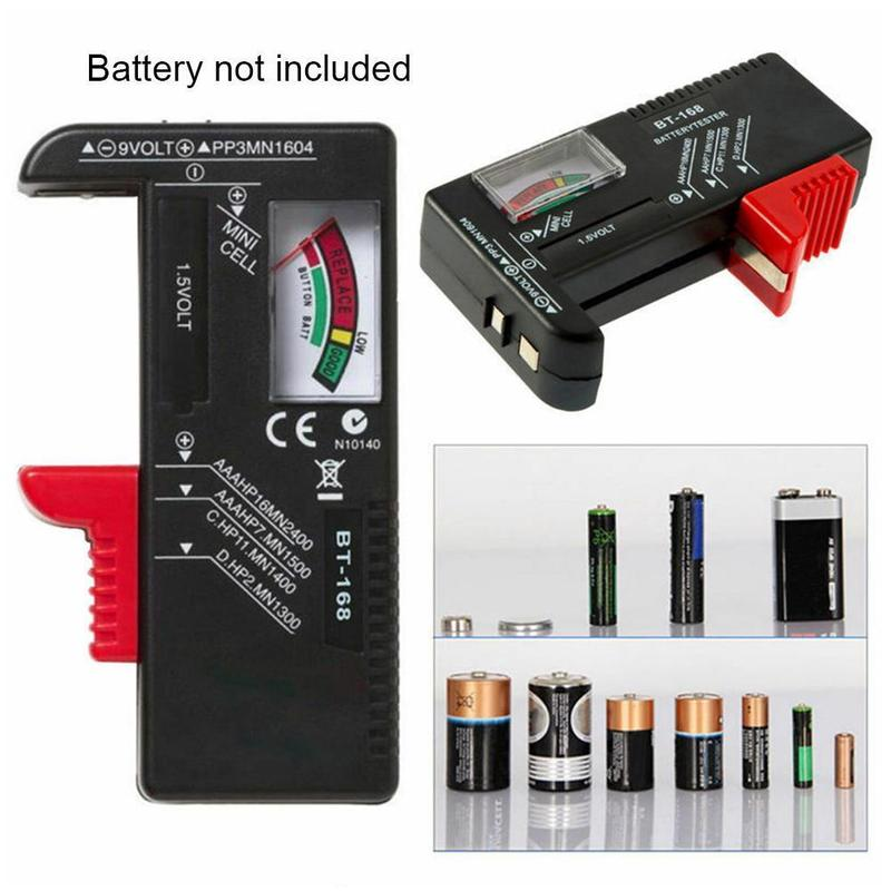 Battery Tester ANENG AN-168 for Digital Lithium Battery Cell test Tester Checkered Button Universal Capacity analyzer load V0N3