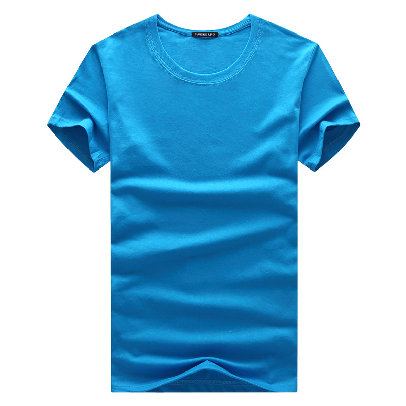 Short-sleeved T-shirt 2019 summer new youth men's trend round neck T-shirt middle-aged father men's clothing