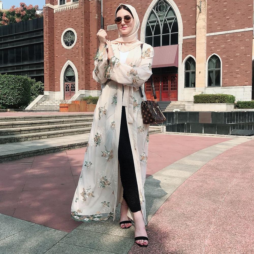 Open Abaya Kimono Cardigan Turkish Hijab Muslim Dress Kaftan Dubai Caftan Abayas For Women Robe Ramadan Jilbab Islamic Clothing