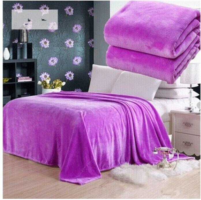 New Fashion Small Super Warm Solid Warm Micro Plush Fleece Blanket Throw Rug Sofa Bedding