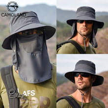 Sun-Hat Uv-Protection Fisherman-Cap CAMOLAND for Men Quick-Drying Neck-Flap Removable