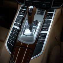 Painel de câmbio interno automotivo, controle do centro, botão de guarnição decorativa para porsche panamera 2010-16, estilizador de carro, liga de alumínio