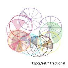 12 шт/лот математические дроби круги игрушки Пластиковые пронумерованные дроби круги математические фишки Математика номер игрушки 8 см Диаметр