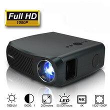 CAIWEI Full HD projektör A12 1920x1080P Android 6.0 (2G + 16G) WIFI LED MINI projektör ev sineması HDMI 3D Video Beamer 4K