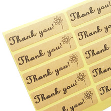100pcs/lot Thank You Flower Adhesive Seal Sticker For Hand Made Gift Package Decoration Label Stickers