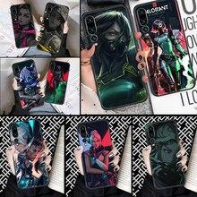 Caso de telefone jogo valorant para huawei p companheiro p10 p20 p30 p40 10 20 inteligente z pro lite 2019 preto 3d capa celular bonito coque moda