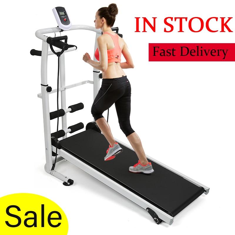 2020 Mini Folding Treadmill Mechanical RunningTreadmill Fitness Equipment For Home Sports GymTraining Machine 100kg Bearing HWC