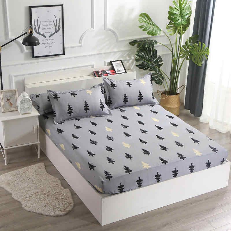 Чехол для матраса с геометрическими линиями для мальчиков и девочек, дышащий чехол для кровати для взрослых, детский матрас, протектор, летний коврик для сна, 2CDT-63001