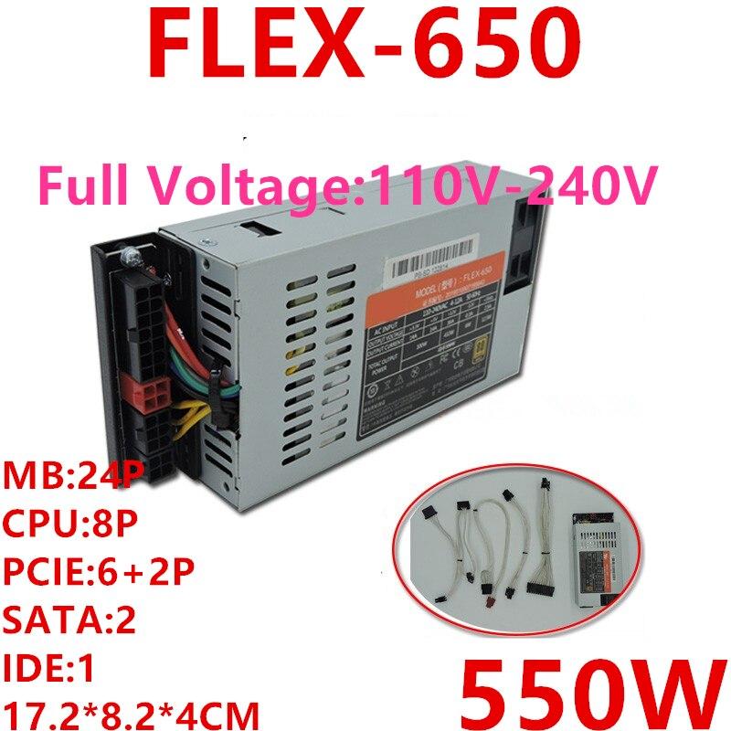 New PSU For XinHang ITX FLEX NAS Small 1U K39 K35 S3 M41M24 550W Power Supply FLEX-650