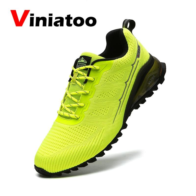 Мужские Нескользящие кроссовки, дышащая сетчатая обувь для бега со шлейфом, Уличная обувь для ходьбы