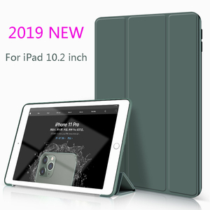 PU Soft Silicone Cover For iPad 10.2 inch 2019 New Funda Smart Case Protective Shell Magnet Auto Wake Cover Model A2197(China)