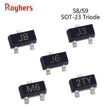 Power-Transistor S9018 SOT-23 J3Y 50pcs J8 S8550 Y2 J6 2TY IC NPN Triode SMD M6