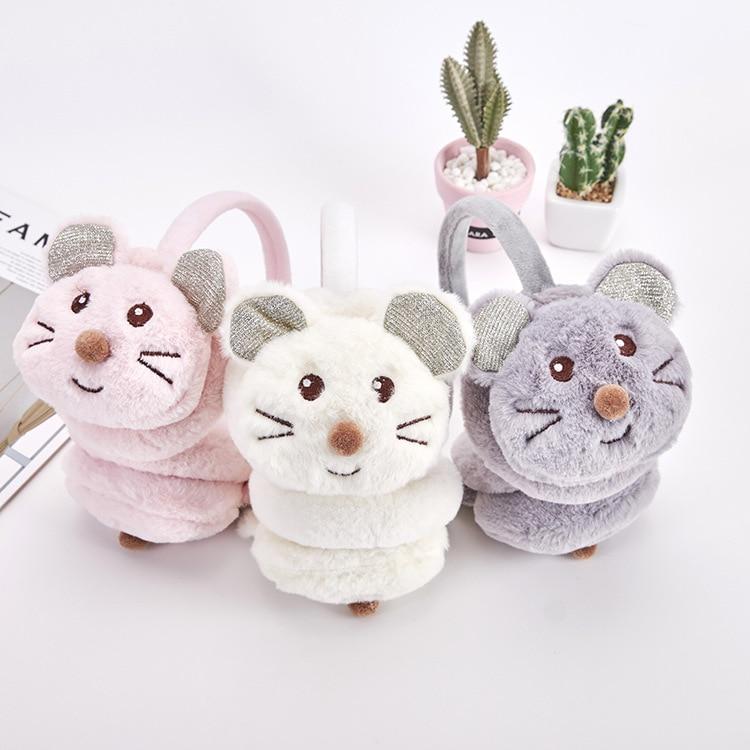 Cute Kids Earmuffs Winter Accessories For Child New Headphones Fashion Faux Fur Winter Earmuffs