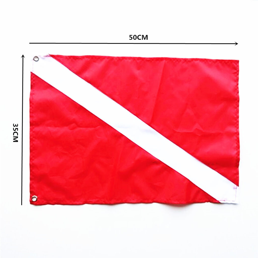 Diver Down Flag Kayak Boat Signal Flag For Safety Underwater Scuba Diving Spearfishing