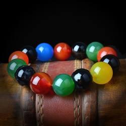 Разноцветный браслет из агата, ручной браслет, ручные украшения оптом