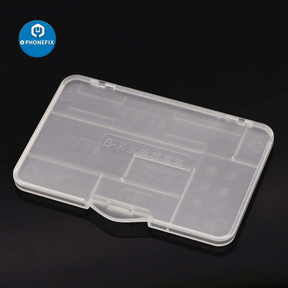 PHONEFIX High Quality Hard Plastic Motherboard Storage Box NAND CPU IC Chips Protect Plastic Box For IPhone 6 6S 7 7 Plus 8 8P