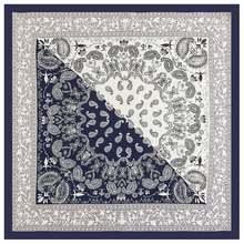 60x60 см Женские Летние слипоны Пейсли печати Шелковый шарф