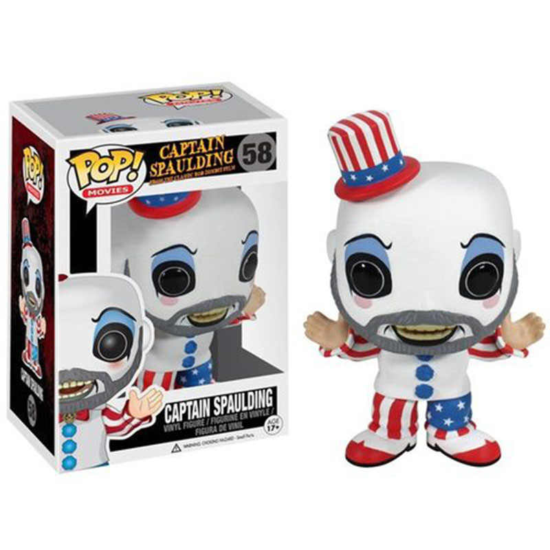 Funko Pop #58 Horror Captain Spalding From Rob Zombie's House of 1000 Corpses funko pop Captain Spalding Vinyl Figure Dolls Toy