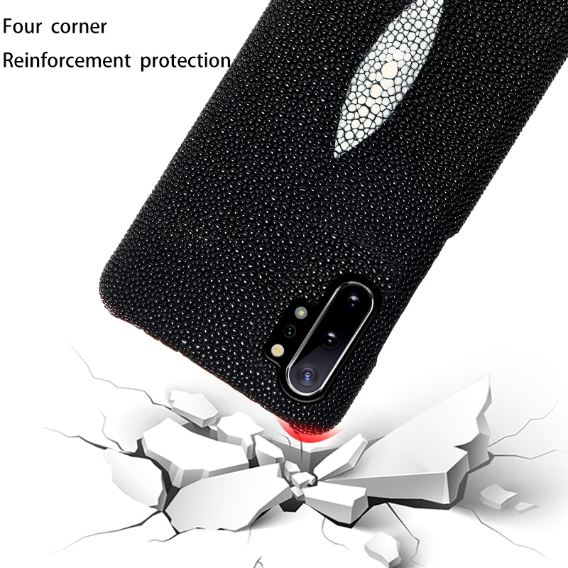 Genuine Pearl Gourami Leather Phone Case for Samsung galaxy S20 Ultra Note 10 9 A50 A51 A70 A40 A71 S7 S8 S9 S10 S20 Plus Cover