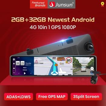 "Junsun 12 ""2GB 32GB ADAS 4G Android 8,1 Smart espejo retrovisor de DashCam Secretario coche DVR Bluetooth GPS Navi Monitor de aparcamiento"