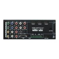 Digital Multi Functional HDMI Converter AV YPbPr VGA HDMI 8 Port TO 1 HDMI Output 1080P Audio Video HDMI Switch Switcher(EU Plug